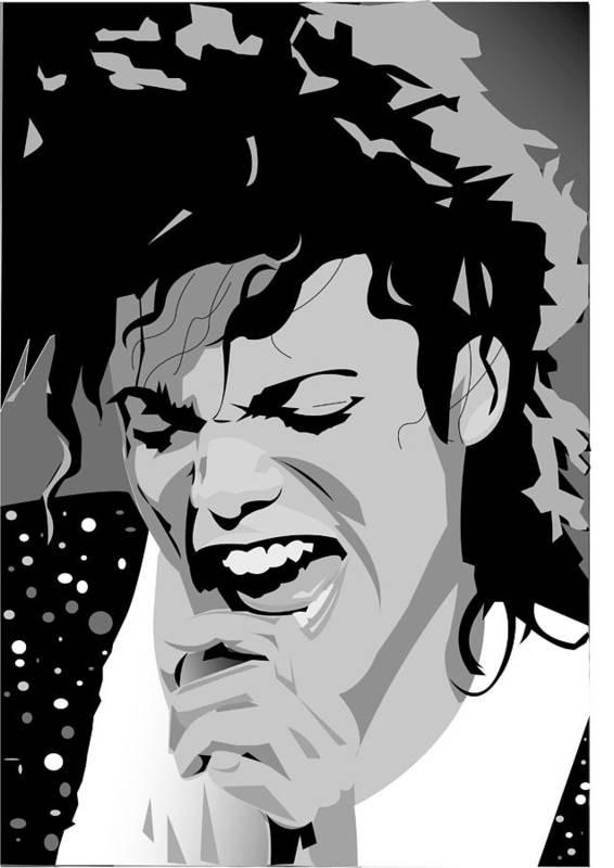 Mj Poster featuring the digital art MJ by Jayakrishnan R