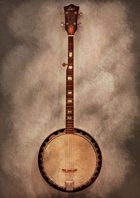 Instrument Poster featuring the photograph Music - String - Banjo by Mike Savad