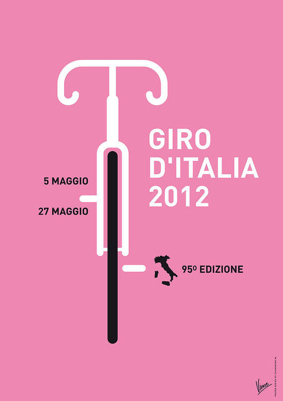 2012 Poster featuring the digital art My Giro D' Italia Minimal Poster by Chungkong Art