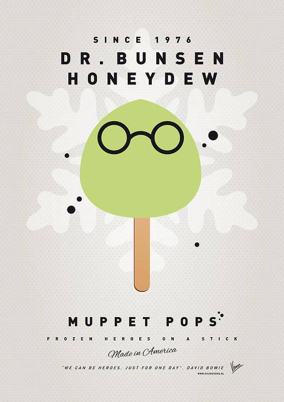 Muppets Poster featuring the digital art My Muppet Ice Pop - Dr Bunsen Honeydew by Chungkong Art