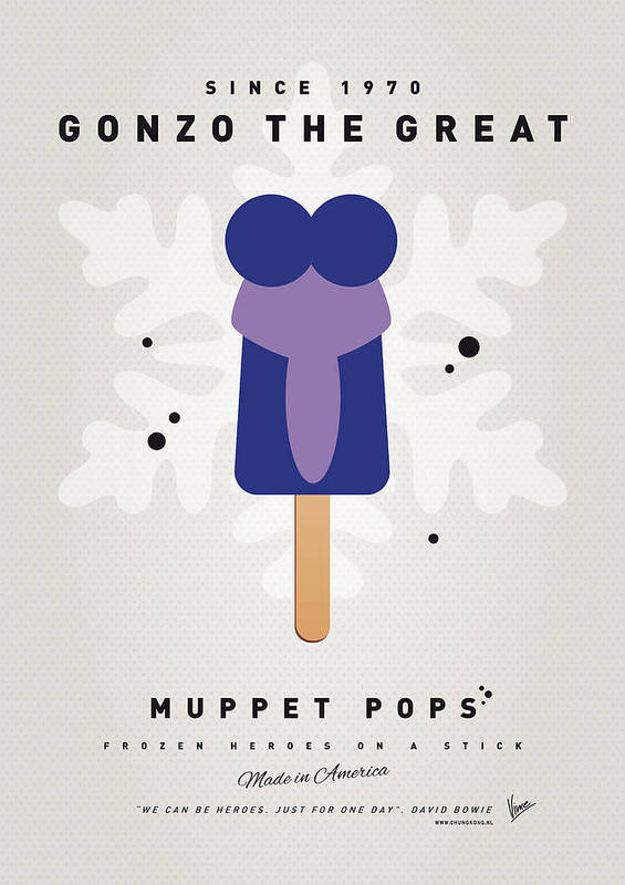 Muppets Poster featuring the digital art My Muppet Ice Pop - Gonzo by Chungkong Art