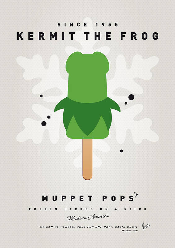 Muppets Poster featuring the digital art My Muppet Ice Pop - Kermit by Chungkong Art