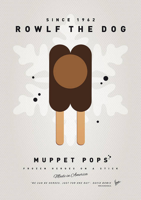 Muppets Poster featuring the digital art My Muppet Ice Pop - Rowlf by Chungkong Art