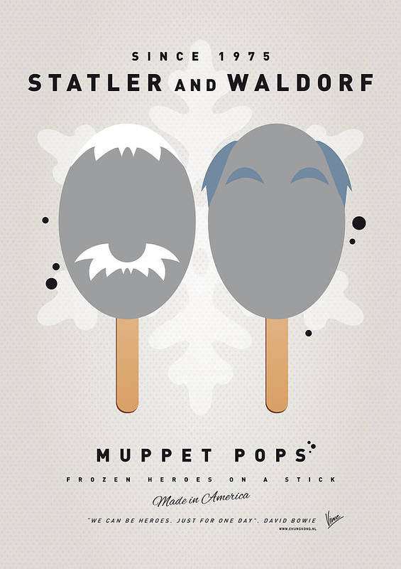 Statler Poster featuring the digital art My Muppet Ice Pop - Statler And Waldorf by Chungkong Art