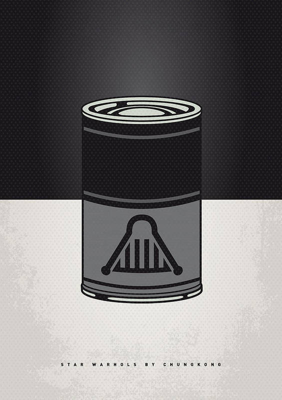 Star Poster featuring the digital art My Star Warhols Darth Vader Minimal Can Poster by Chungkong Art