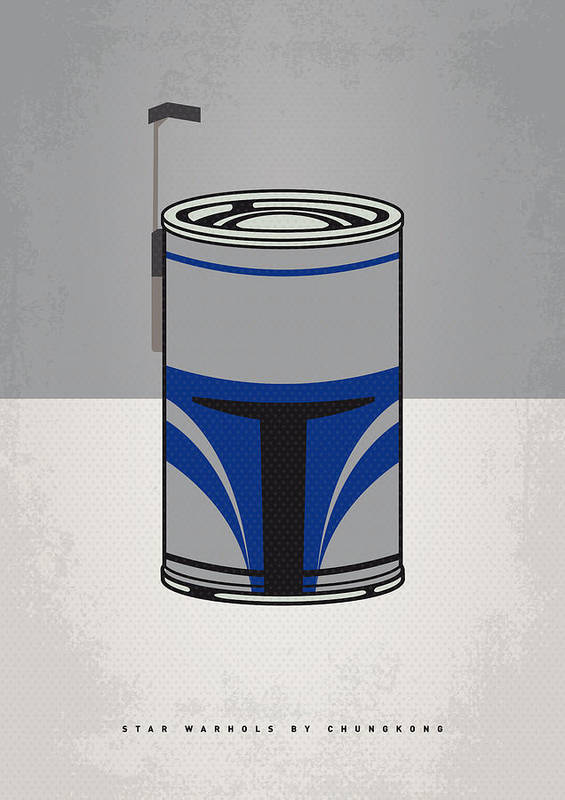Star Poster featuring the digital art My Star Warhols Jango Fett Minimal Can Poster by Chungkong Art
