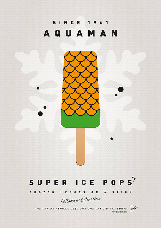 Superheroes Poster featuring the digital art My Superhero Ice Pop - Aquaman by Chungkong Art