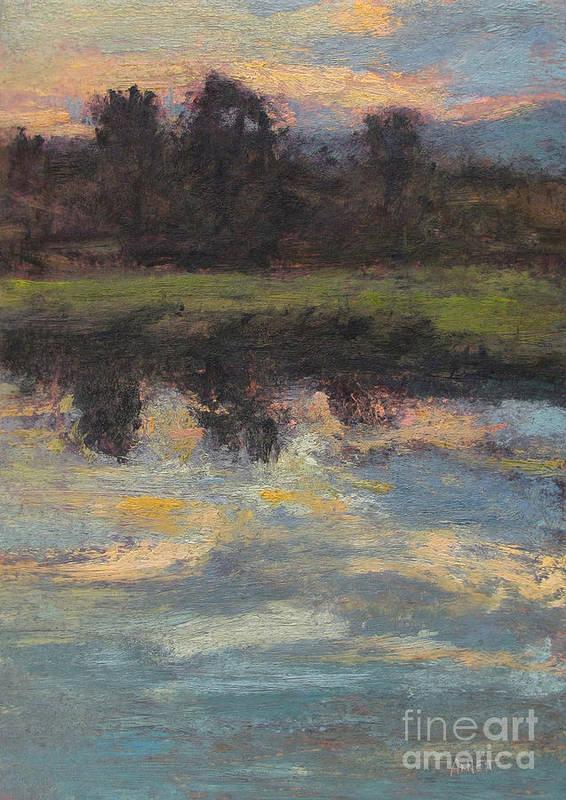 November Reflection - Hudson Valley Poster featuring the painting November Reflection - Hudson Valley by Gregory Arnett