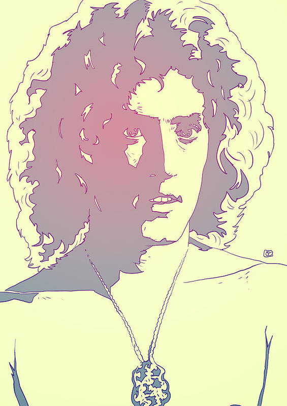 The Who Poster featuring the drawing Roger Daltrey by Giuseppe Cristiano
