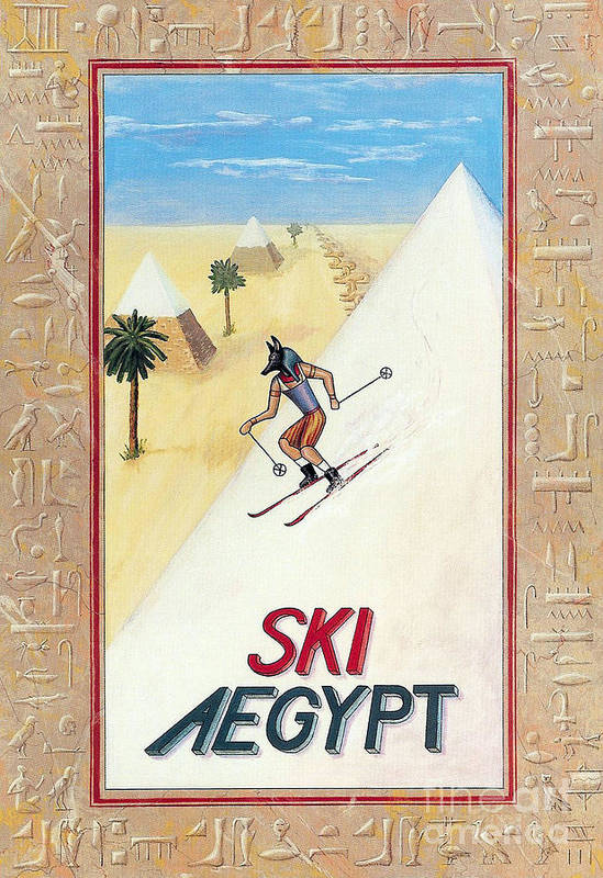 Egypt Poster featuring the painting Ski Aegypt by Richard Deurer