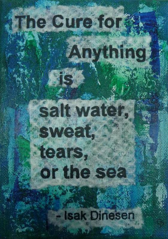 Inspirational Poster featuring the painting Water Cure - 1 by Gillian Pearce
