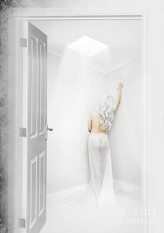 Alone Poster featuring the digital art White Room by Svetlana Sewell
