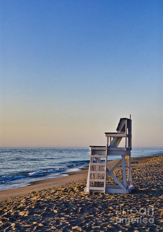 Beach Poster featuring the photograph Cape Cod Lifeguard Stand by John Greim