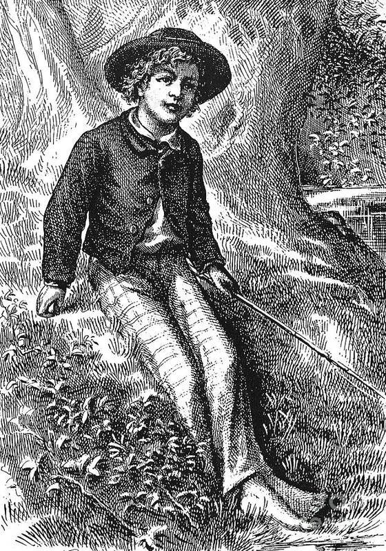 1876 Poster featuring the photograph Clemens: Tom Sawyer by Granger