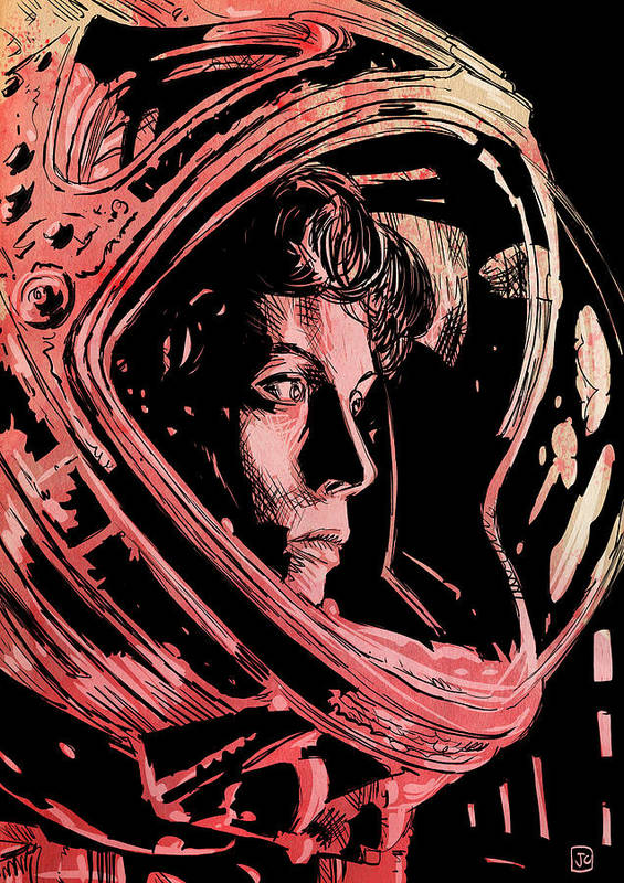 Sigourney Weaver Poster featuring the drawing Alien Sigourney Weaver by Giuseppe Cristiano