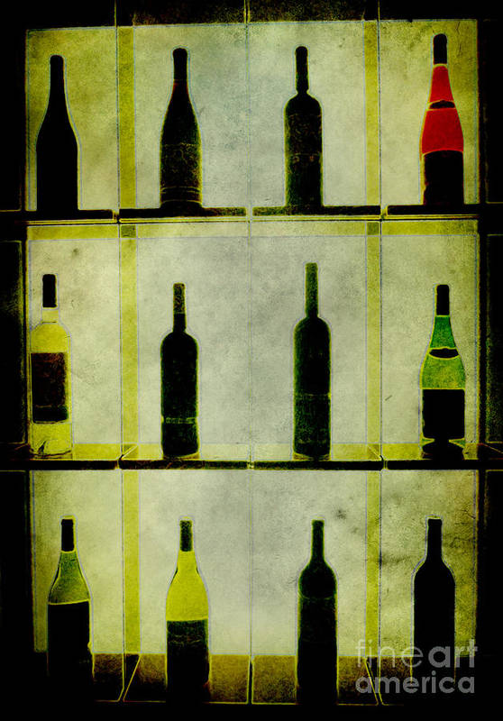Bottles Poster featuring the painting Bottles by Alexander Bakumenko