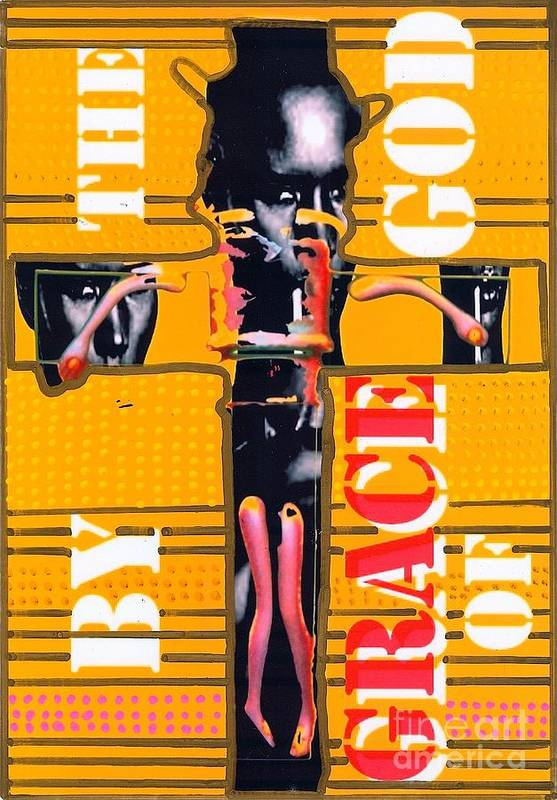 Grace Jones Poster featuring the drawing By The Grace Of God by Ricky Sencion