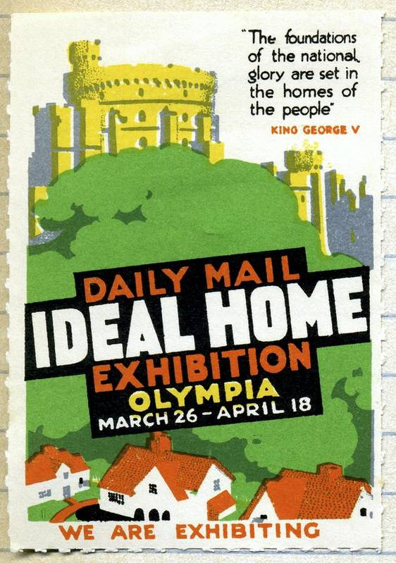 Ideal Home Exhibition Poster featuring the photograph Ideal Home Exhibition Stamp, 1920 by Cci Archives