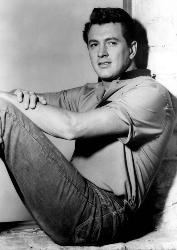 1950s Portraits Poster featuring the photograph Rock Hudson, C. Mid 1950s by Everett