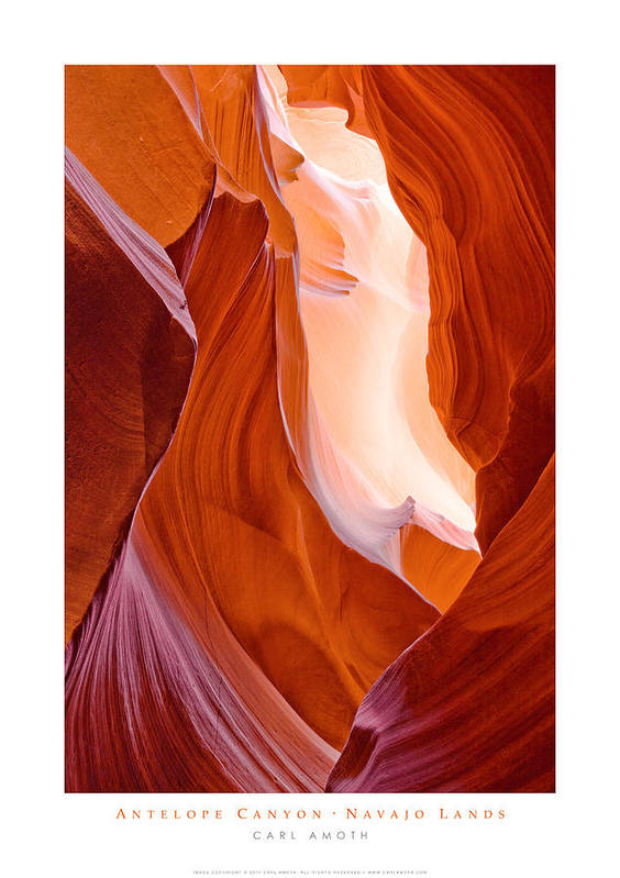 Antelope Canyon Poster featuring the photograph Antelope Canyon by Carl Amoth