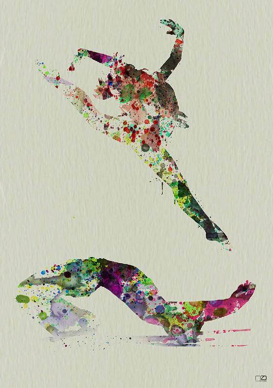 Ballerina Poster featuring the painting Beautiful Ballet by Naxart Studio