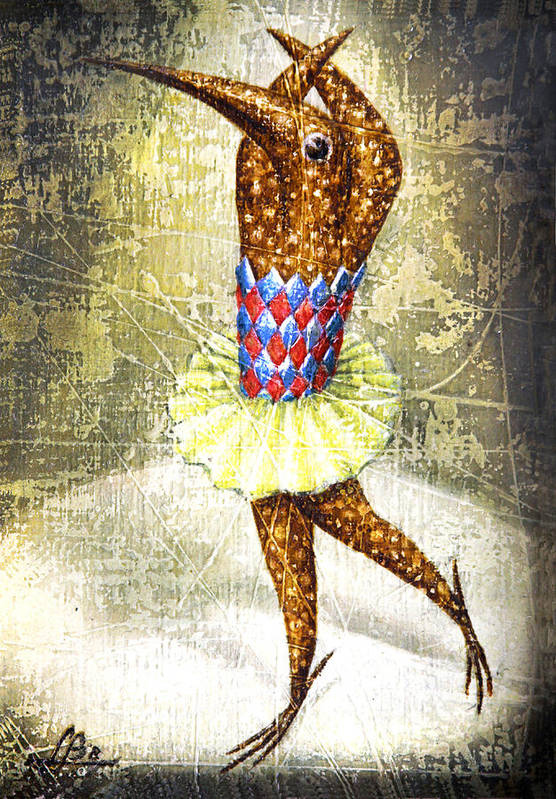 Ballerina Poster featuring the painting Dancer 3 by Lolita Bronzini