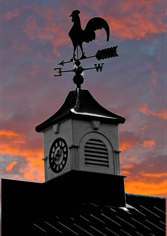 Clock Poster featuring the photograph East By South by Brian Roscorla