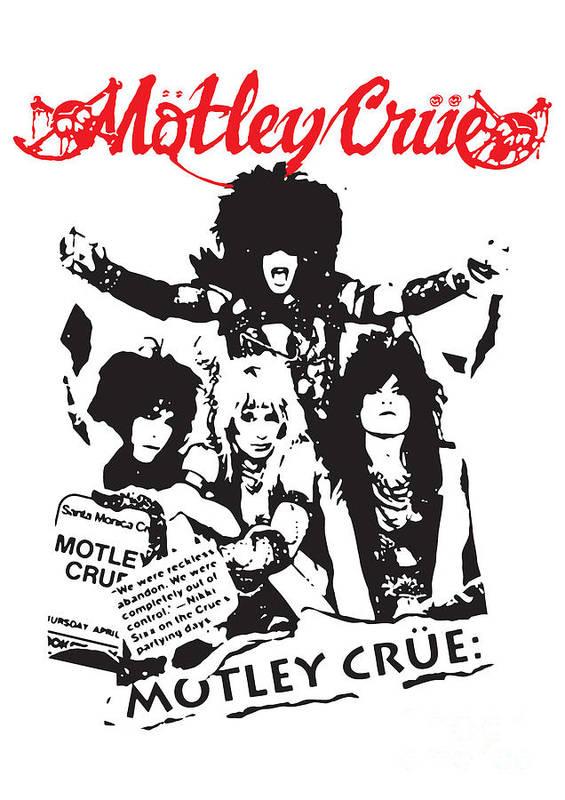 Motley Crue Poster featuring the digital art Motley Crue No.01 by Caio Caldas