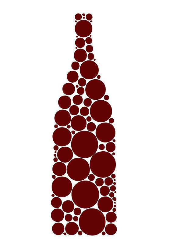 Wine Poster featuring the painting Red Wine Bottle by Frank Tschakert
