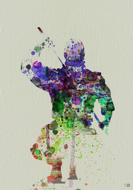 Ninja Poster featuring the painting Samurai by Naxart Studio