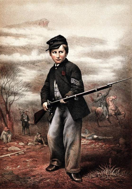Civil War Poster featuring the painting Union Drummer Boy John Clem by War Is Hell Store