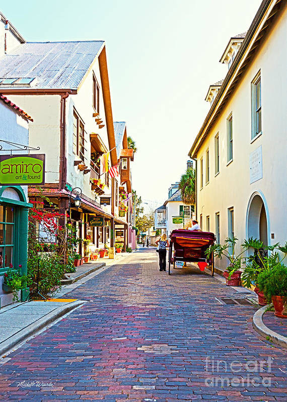 A Walk In St Augustine Poster featuring the photograph A Walk In St Augustine by Michelle Wiarda