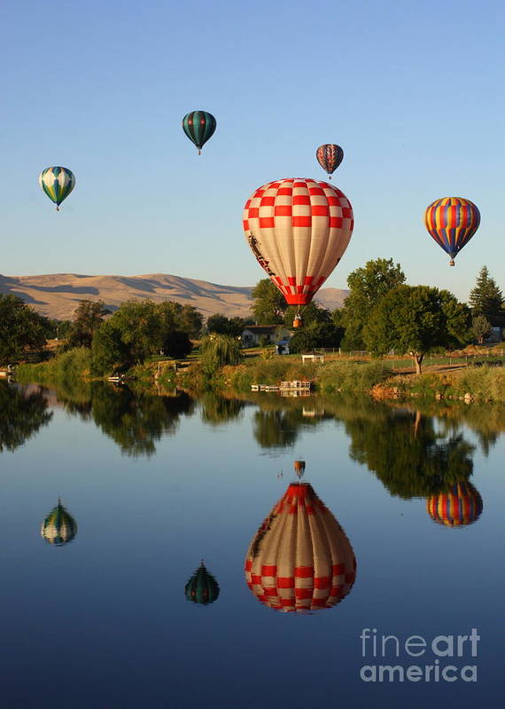 Balloon Poster featuring the photograph Beautiful Balloon Day by Carol Groenen
