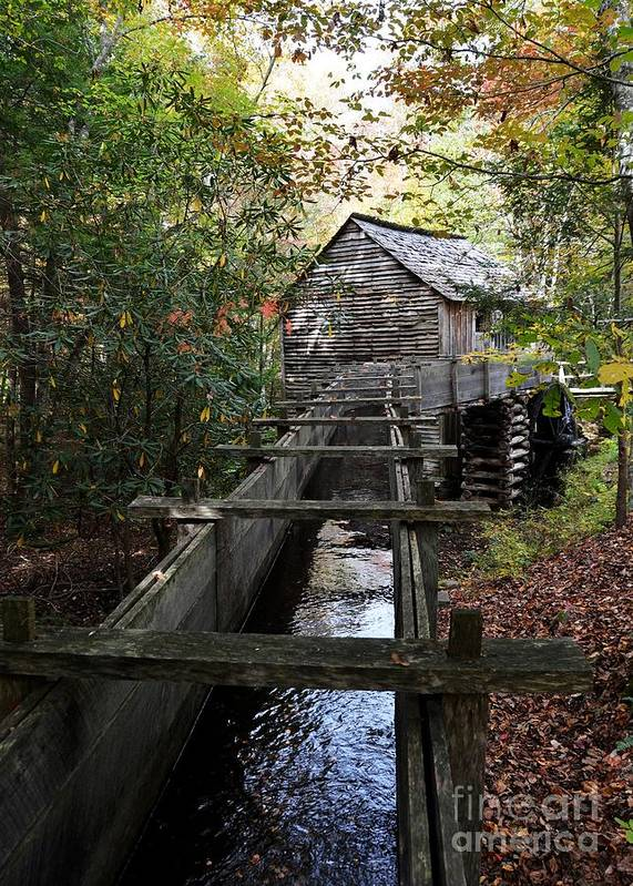 Grist Mills Poster featuring the photograph Cable Grist Mill 3 by Mel Steinhauer