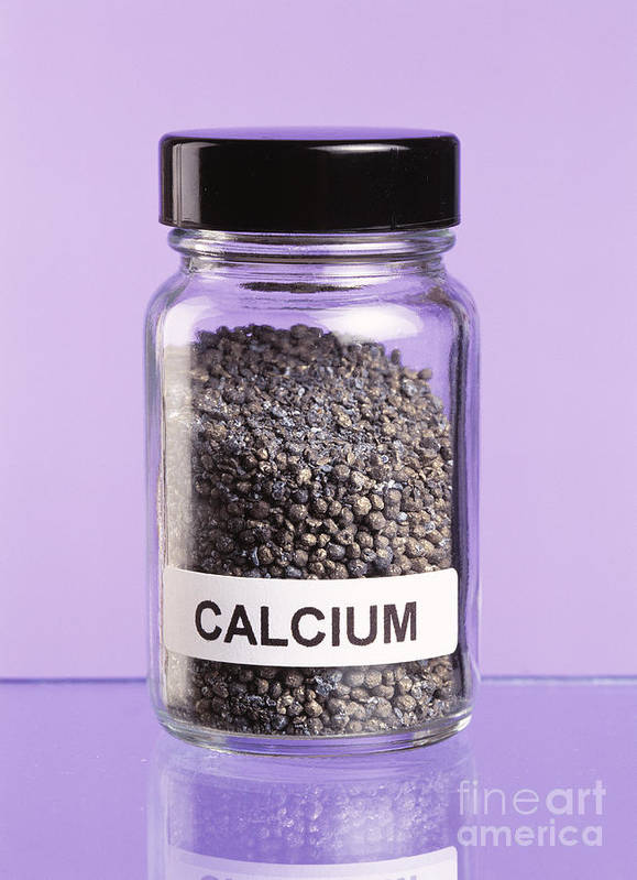 Calcium Poster featuring the photograph Calcium by Martyn F. Chillmaid