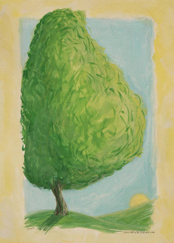 Tree Poster featuring the painting Home 2009 by Thomas Griffith