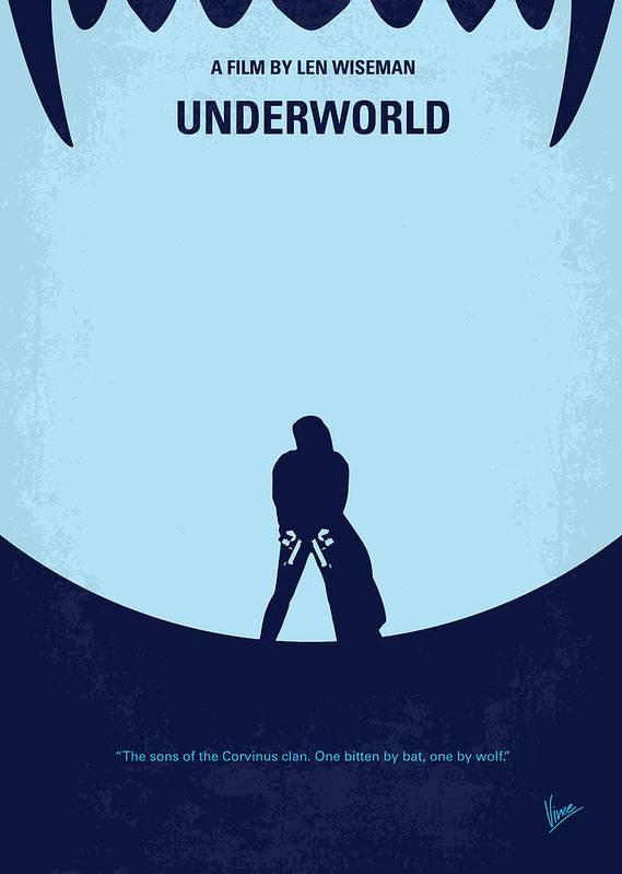 Underworld Poster featuring the digital art No122 My Underworld Minimal Movie by Chungkong Art