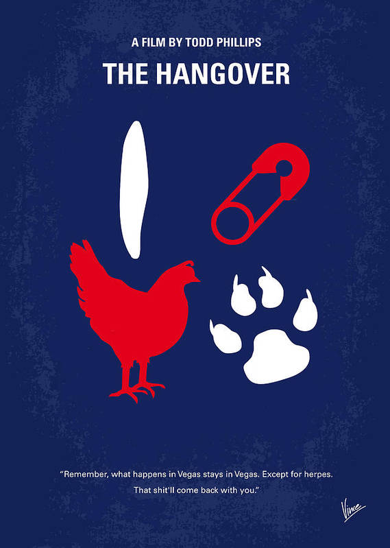 Hangover Poster featuring the digital art No145 My The Hangover Minimal Movie Poster by Chungkong Art