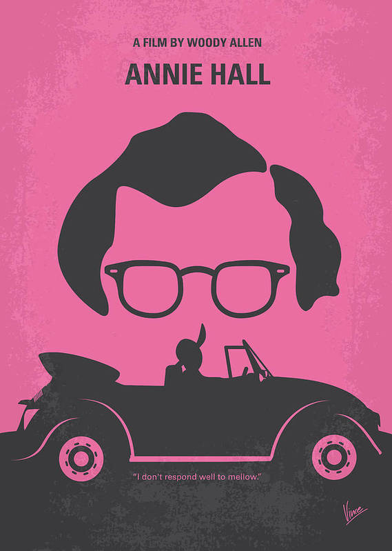 Annie Poster featuring the digital art No147 My Annie Hall Minimal Movie Poster by Chungkong Art