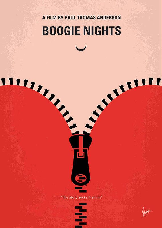 Boogie Poster featuring the digital art No167 My Boogie Nights Minimal Movie Poster by Chungkong Art