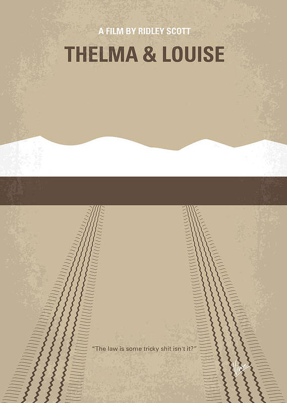 Thelma Poster featuring the digital art No189 My Thelma And Louise Minimal Movie Poster by Chungkong Art