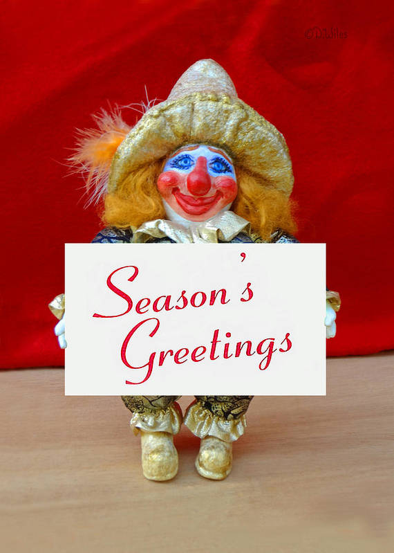 Peaches Poster featuring the painting Peaches - Season's Greetings by David Wiles