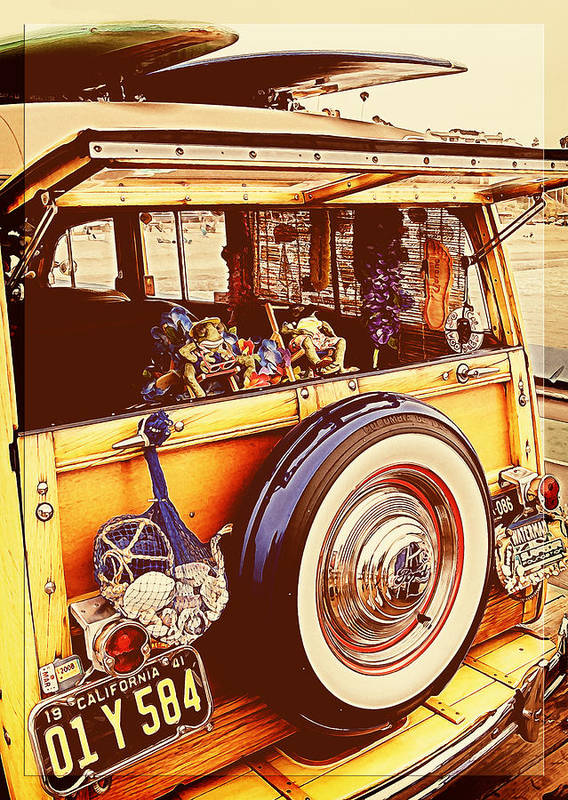 Ford Woodie Poster featuring the photograph Phil's Fabulous 41 by Ron Regalado
