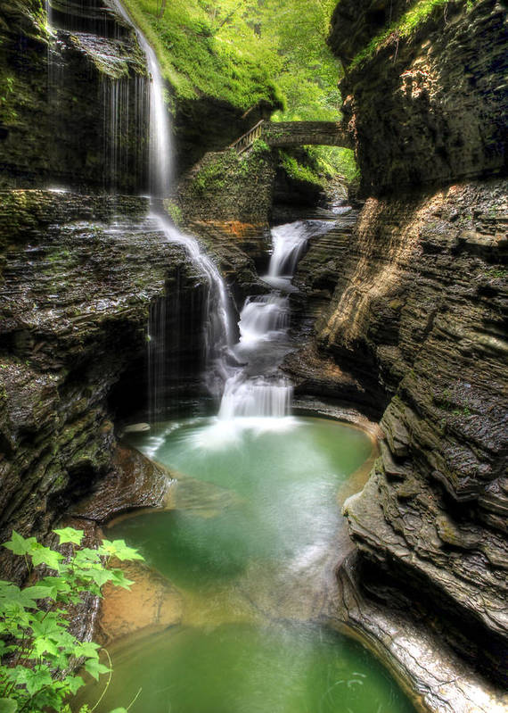 Rainbow Falls Poster featuring the photograph Rainbow Falls by Lori Deiter