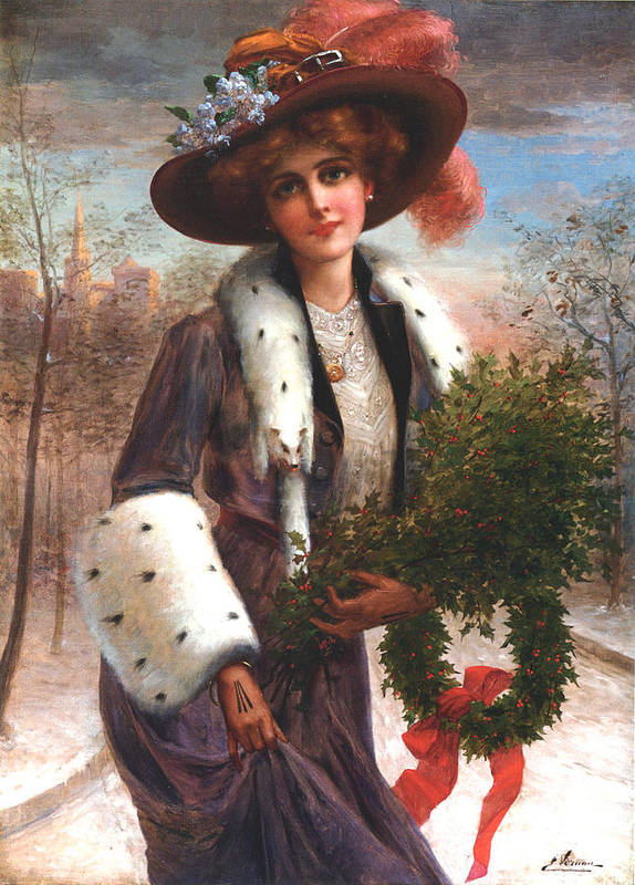 Emile Vernon Poster featuring the digital art Seasons Greetings by Emile Vernon