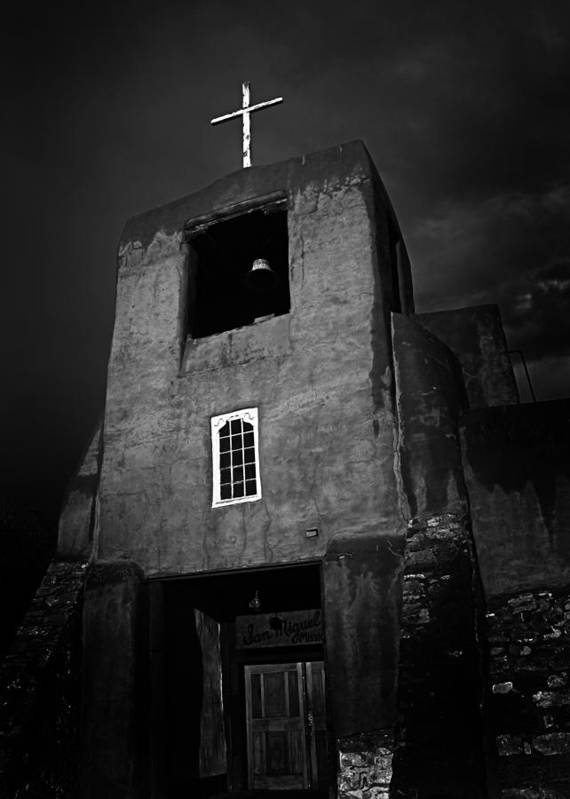 Newmexico Poster featuring the photograph Taos Church by Jeff Klingler