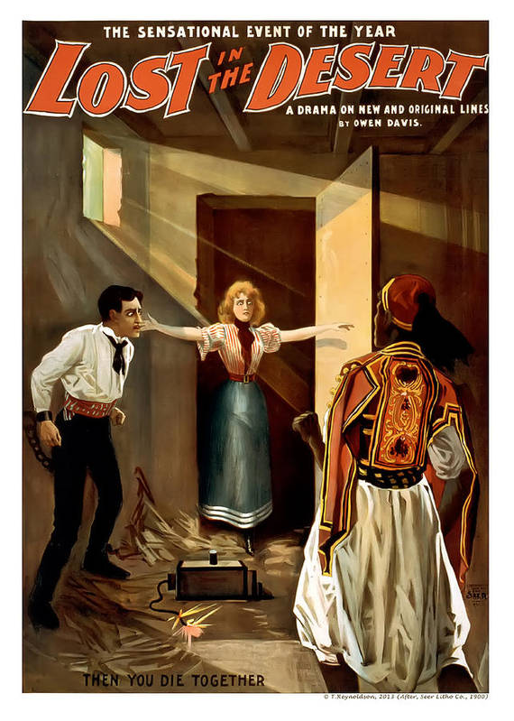 Vintage Poster Poster featuring the painting Then You Die Together by Terry Reynoldson