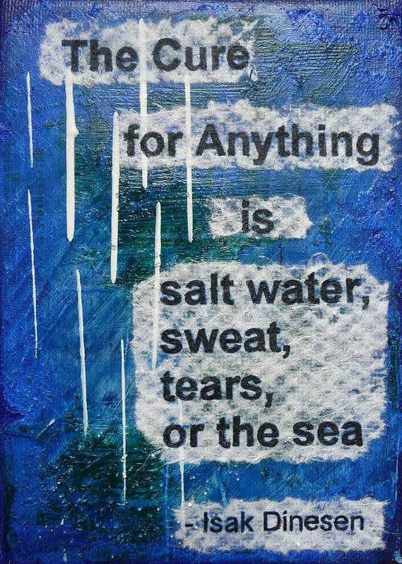 Inspirational Poster featuring the painting Water Cure - 2 by Gillian Pearce
