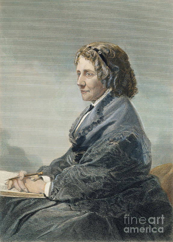 19th Century Poster featuring the photograph Harriet Beecher Stowe by Granger
