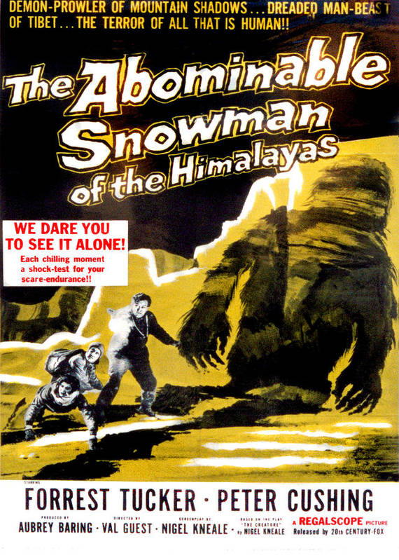 1950s Poster Art Poster featuring the photograph The Abominable Snowman, Aka The by Everett